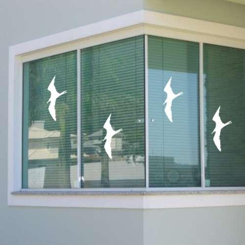 Aparador De Aliança Rommanel ~ adesivo de pássaro para vidros