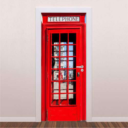 Adesivo decorativo para porta Cabine Telefônica