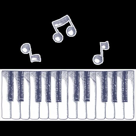 Adesivo de Parede Teclas de Piano