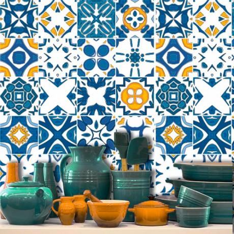 Adesivo para Azulejo – Azul e Amarelo
