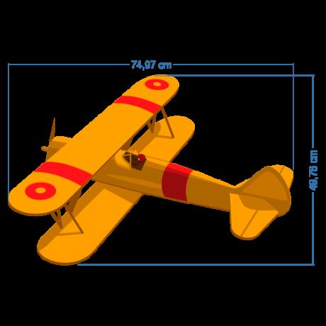 Adesivo de avião para quarto de criança
