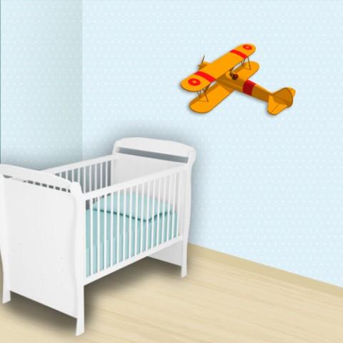 Adesivo decorativo infantil - Poá Azul