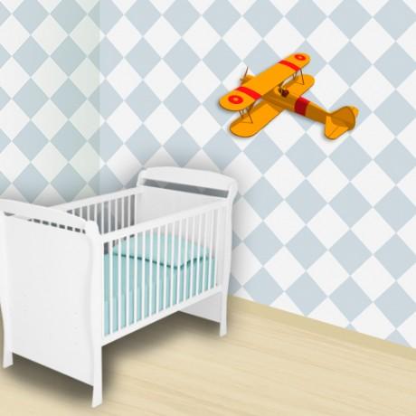 Adesivo-decorativo-infantil-Xadrez-Azul