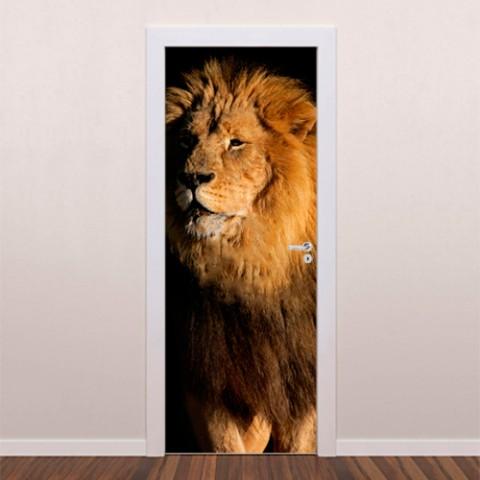 adesivo-decorativo-para-porta-leão