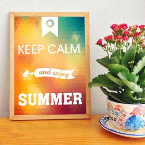 Poster Adesivo Keep Calm Enjoy Summer
