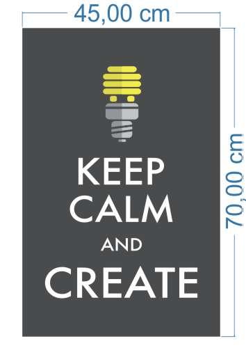 Poster Adesivo Keep Calm Create