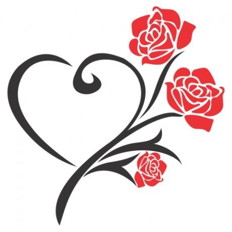 Adesivo de Parede Rosas Vermelhas