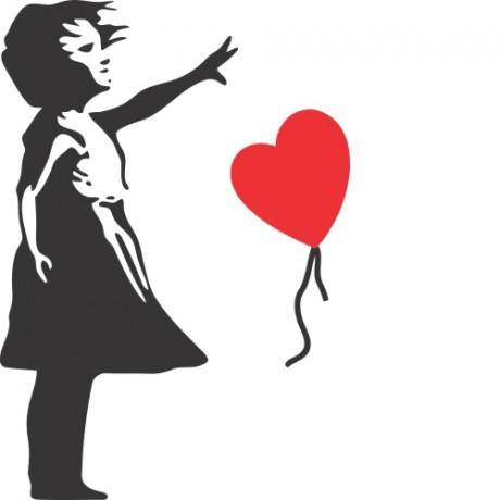Adesivo de Parede Menina Com Balão