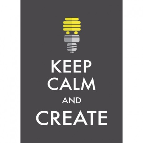 Poster Adesivo Keep Calm And Create