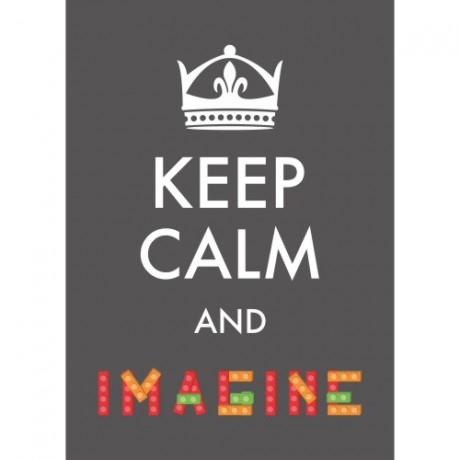 Poster Adesivo Keep Calm And Imagine