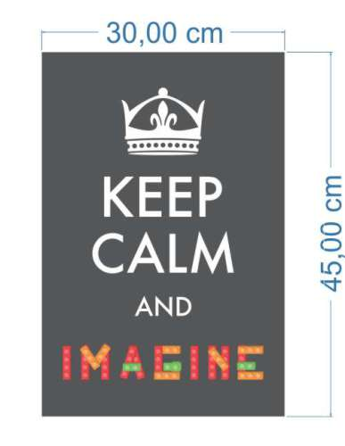 Poster Adesivo Keep Calm Imagine