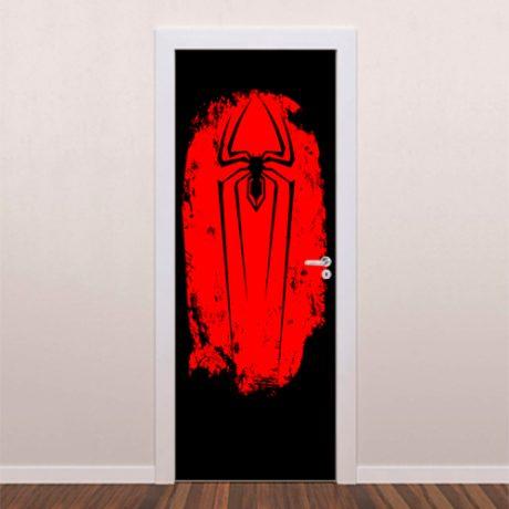 Adesivo decorativo para porta Spider