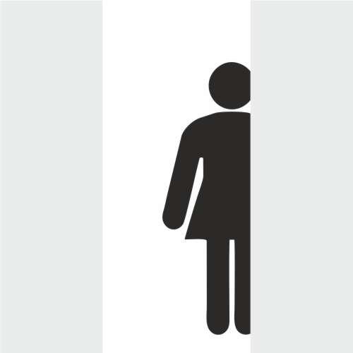 Armario Limpieza Conforama ~ Adesivo Para Porta de Banheiro Feminino