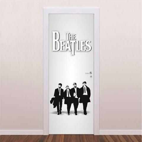 Adesivo Decorativo Para Porta The Beatles