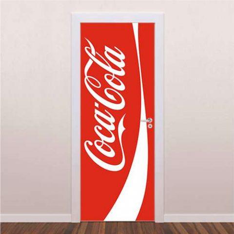 Adesivo Decorativo Para Porta Coca Cola