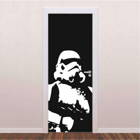 Adesivo decorativo para porta Darth Vader II