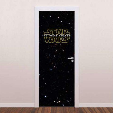 Adesivo decorativo para porta Star Wars