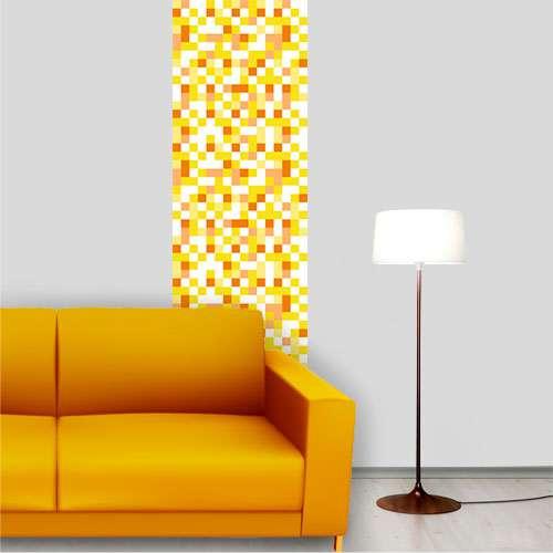 Papel de Parede Quadriculado Amarelo