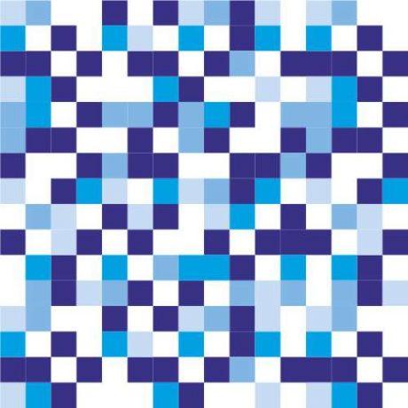 Papel de Parede Quadriculado Azul