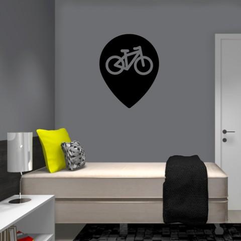 Adesivo-de-Parede-Bike-Check-In