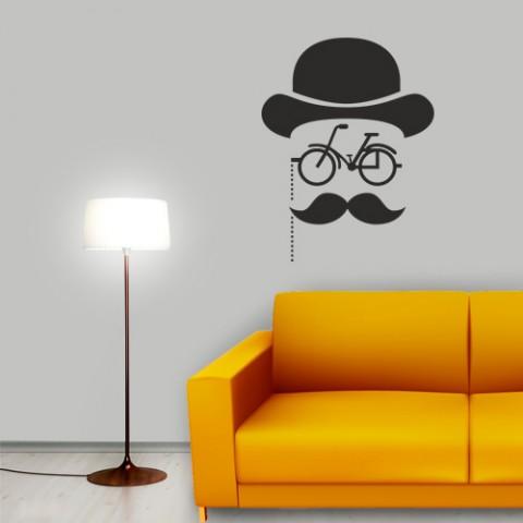 Adesivo-de-Parede-Retro-Bike-Mustache