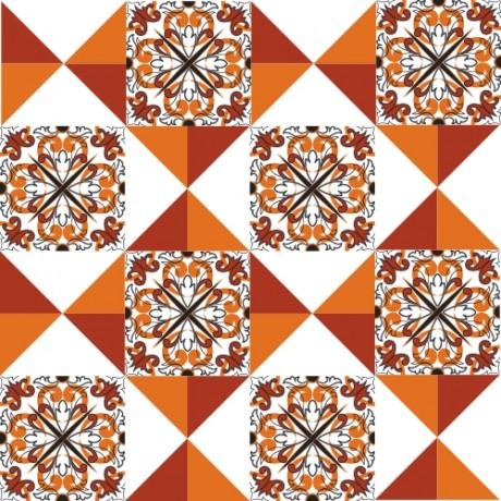 Adesivo para Azulejo – Português Tons Quentes