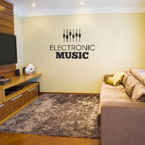 Adesivo Decorativo Eletronic Music