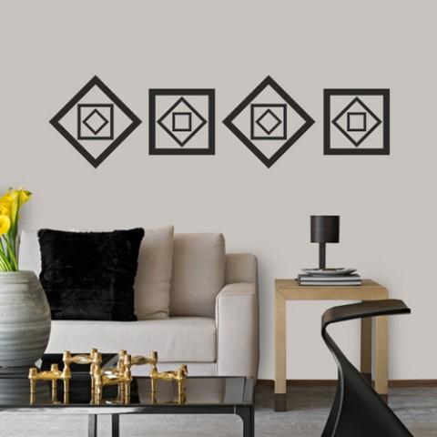 Adesivo Decorativo de Parede Quadrados