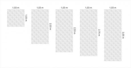 papel de parede circulo tamanhos