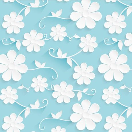 Floral-Azul