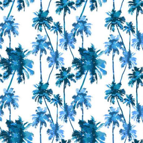 Papel de Parede Palmeiral Estilizada Azul detalhe