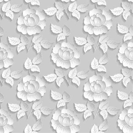 Papel de Parede Floral Rosas Efeito 3D