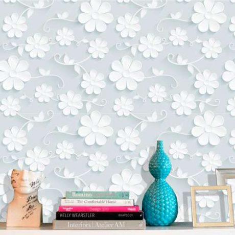 Papel de Parede Floral Margarida Efeito 3D