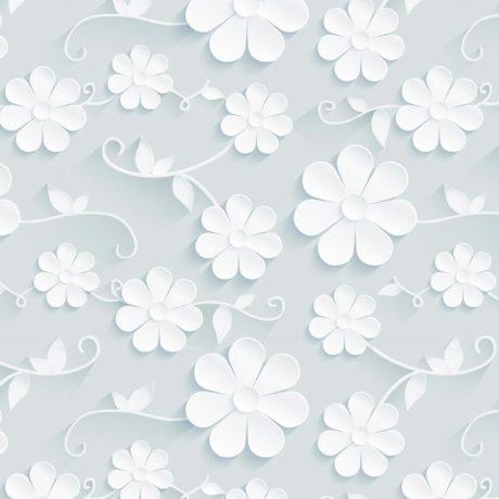 papel-de-parede-3D-floral-Azul-Claro