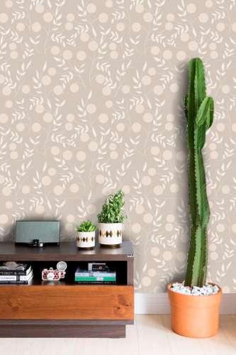Papel de Parede Floral Arabesco