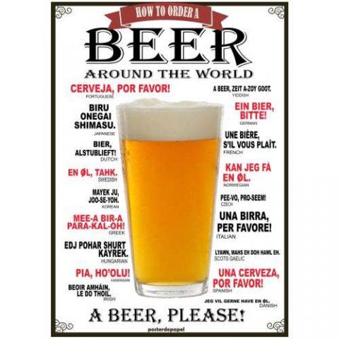 Pôster Cerveja, Por Favor