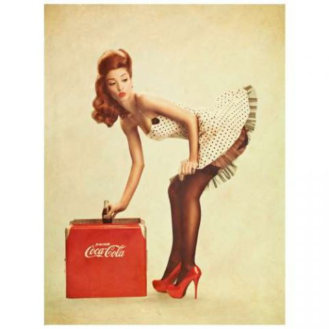 Pôster Pin Up Coca Cola